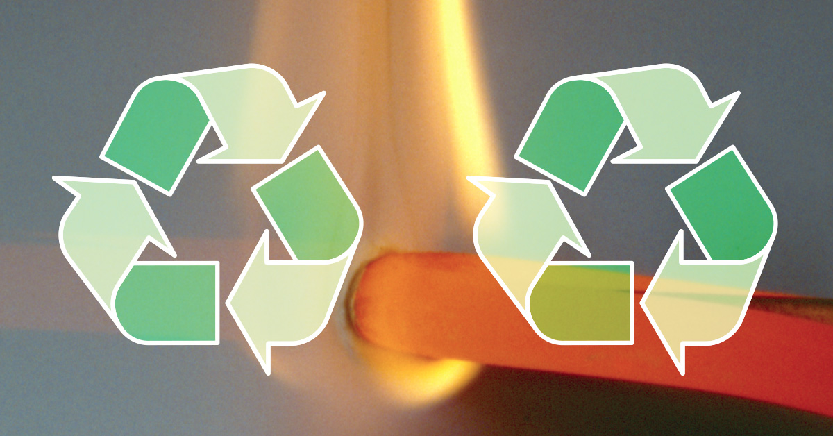 Self-extinguishing materials now even 50% recyclable!